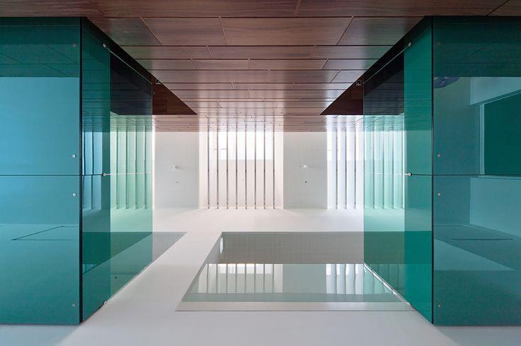 Foldes Architects   www.foldesarchitects.hu   #innovation #centre #architecture #interior #glass #wood #reflection #bridge