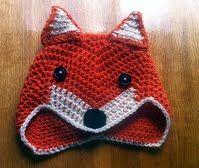 Mr fox crochet hat