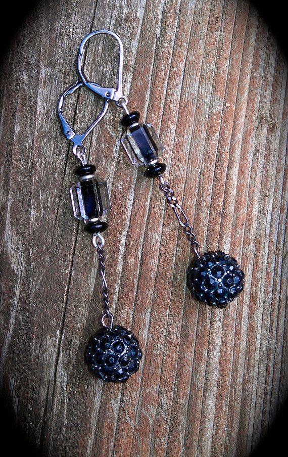 Black Star Earrings handmade gift by practicallyfrivolous on Etsy, $26.00