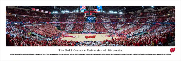 Wisconsin Badgers Basketball Panoramic - Kohl Center Picture - $29.95