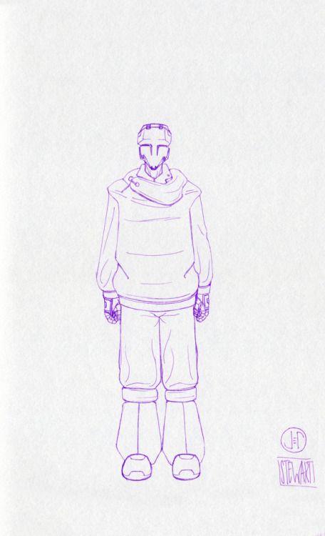 Challenge Day 179 Year 3  Muji Light Purple 0.25mm nib pen on Studio Sketchbook  Daily Character Design Challenge, 2017-11-20, Year 3 - No179b, by Jeff Stewart #365_day_challenge #oc #conceptart #CharacterDesign #CharacterChallenge #original_character #character_art #concept #challenge #drawing #sketch #line_art #lineart #line_drawing #linedrawing #art #artist #artists_on_tumblr #sci_fi #scifi #character_design #concept_art #character_challenge