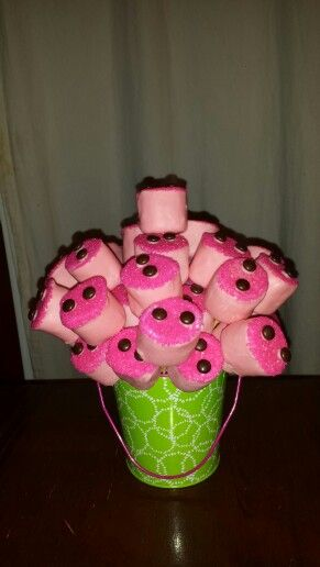 Piggy Nose Bouquet! Peppa Pig Party(How To Make Cake Poos)