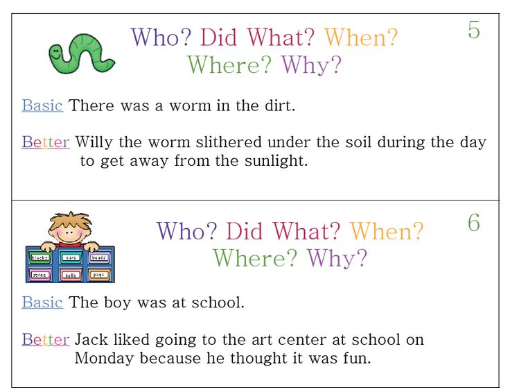 2nd grade who what when where why ccss pinterest for Soil in sentence
