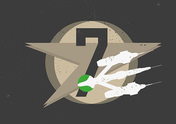 Blake's 7 by Niels Revers https://www.behance.net/gallery/18712023/Sci-Fi-Icons