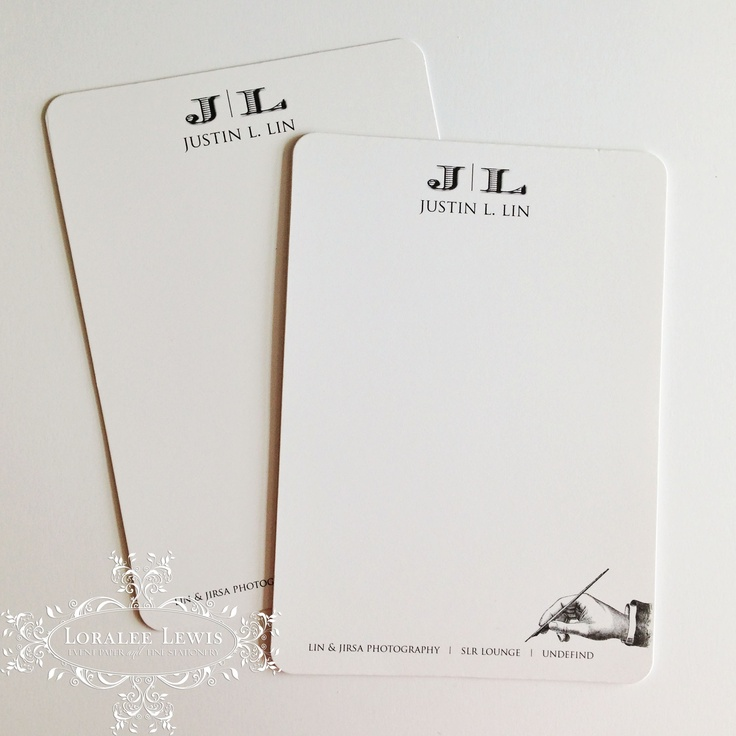 Seeing a lot of Men's Stationery Orders coming through for Father's Day.  Here's one that shipped out this week. Custom Penned Collection by Loralee Lewis, www.loraleelewis.com