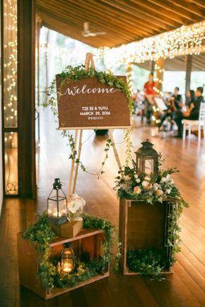 Las ideas de decoración de bricolaje más bellas para una boda rústica