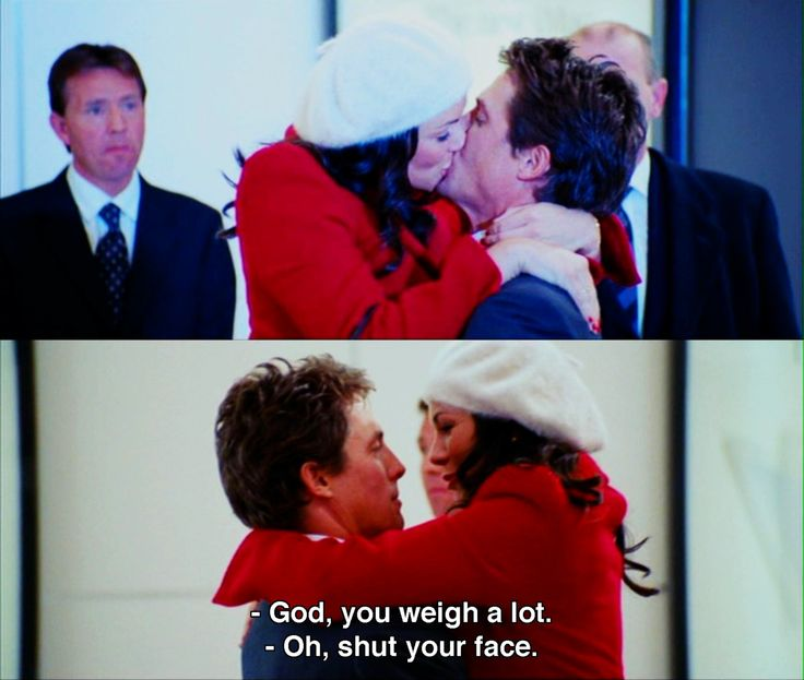 'God, you weigh a lot' ~ Love Actually #moviequotes