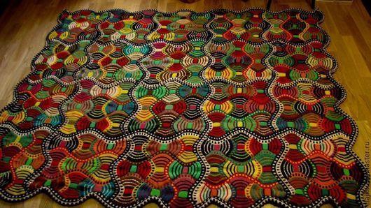 """Текстиль, ковры ручной работы. Ярмарка Мастеров - ручная работа. Купить Плед """"Африканский"""" (ПРОДАН). Handmade. Плед, кантри, пэчворк"""