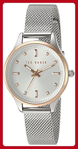 Ted Baker Women's 'Sport' Quartz Stainless Steel Dress Watch, Color:Silver-Toned (Model: 10031190) - All about women (*Amazon Partner-Link)