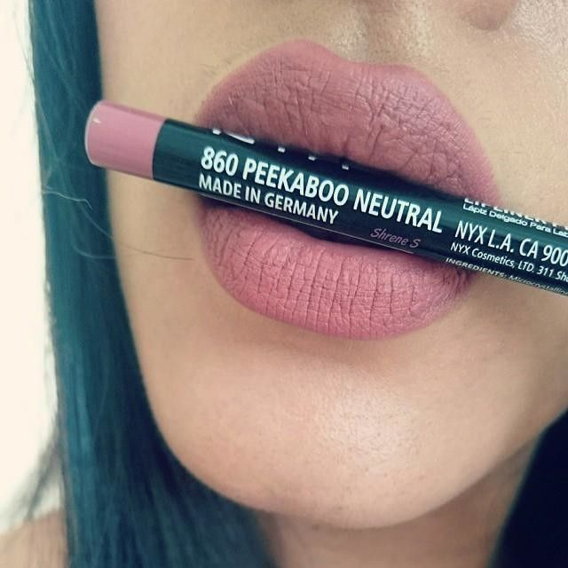@nyxcosmetics Peekaboo Neutral lipliner, (dupe to Mac Boldly Bare)