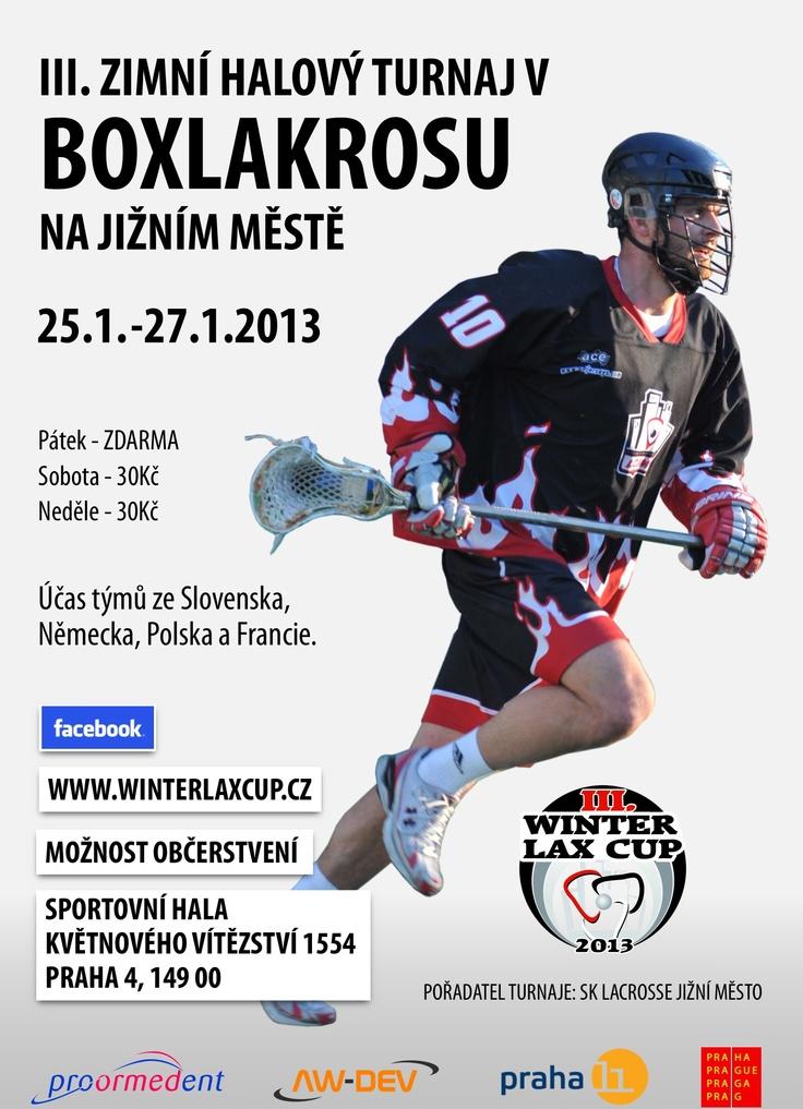 Winter lax cup 2013 poster lacrosse Czech republic