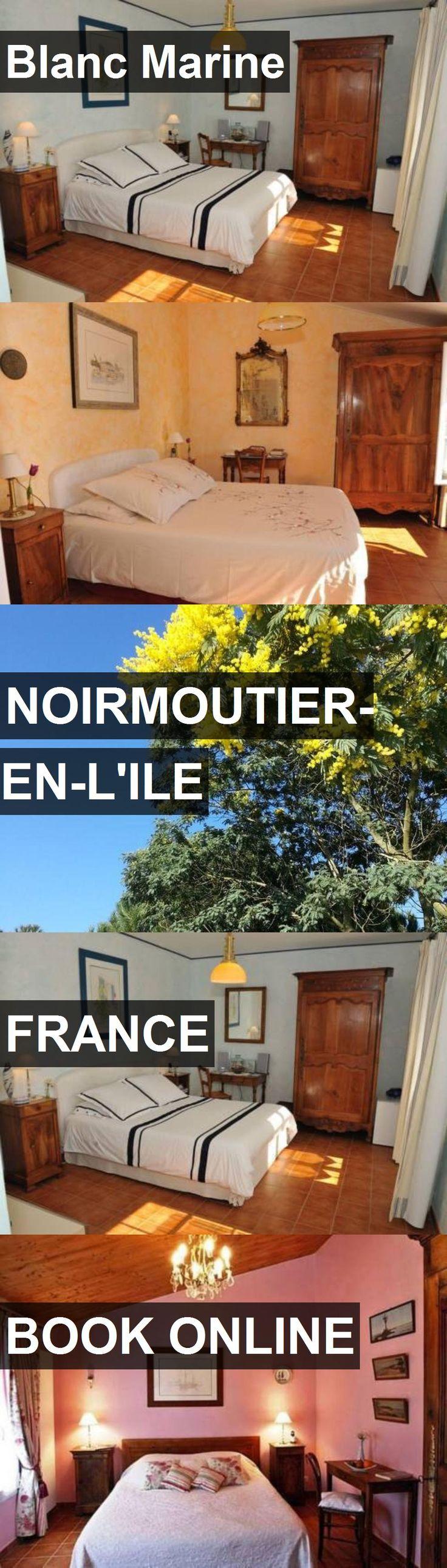 Hotel Blanc Marine in Noirmoutier-en-l'Ile, France. For more information, photos, reviews and best prices please follow the link. #France #Noirmoutier-en-l'Ile #travel #vacation #hotel