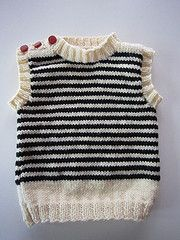 Free Knitting Pattern French Sailor Baby Vest | My Roman Apartment