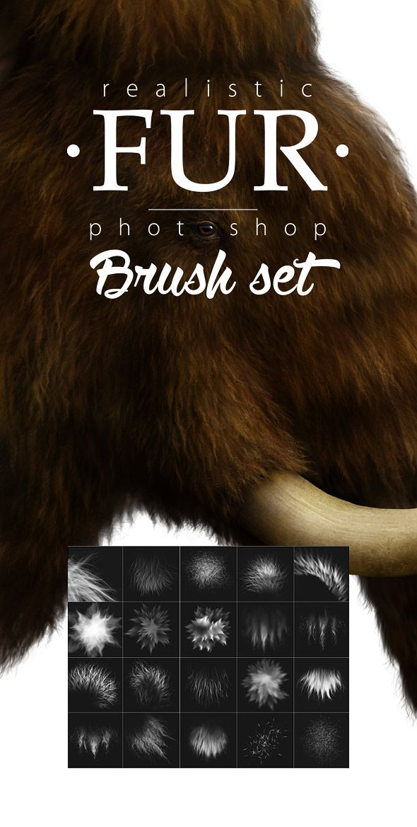 Fur Realistic Painting Brushes for Photoshop — Photoshop ABR #hair #brushesforartists • Download ➝ https://graphicriver.net/item/fur-realistic-painting-brushes-for-photoshop/19324382?ref=pxcr