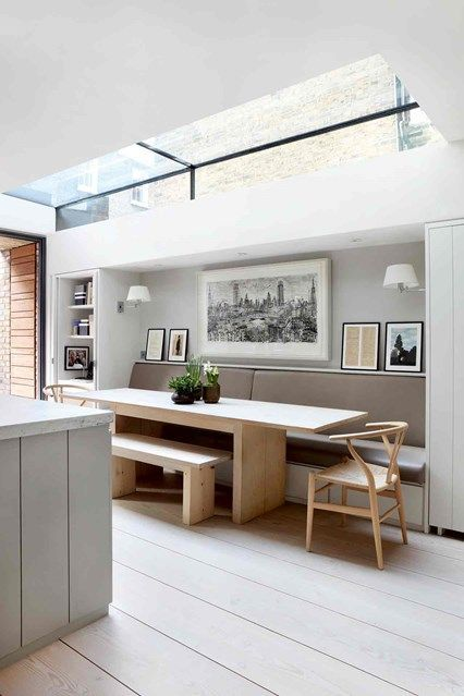 Kitchen Banquette - A Victorian home flooded with light that strikes the balance between character and modern style - real homes on HOUSE by House & Garden