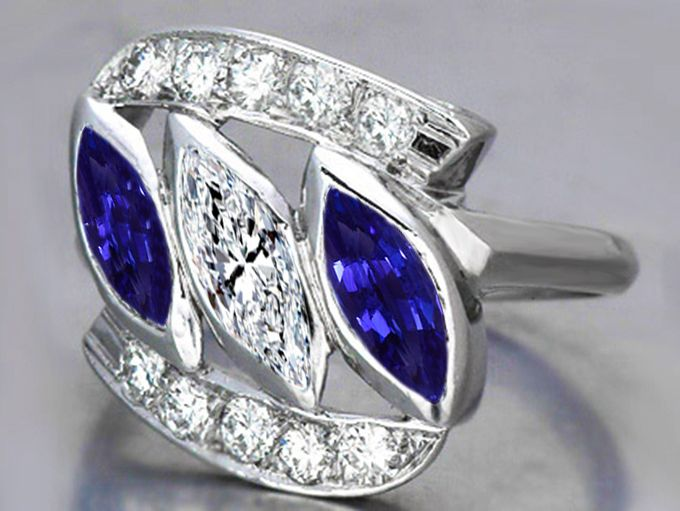 Stone Marquise Ring