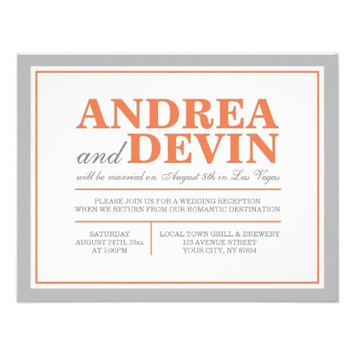 1000 Ideas About Reception Only Invitations On Pinterest Reception Invitat