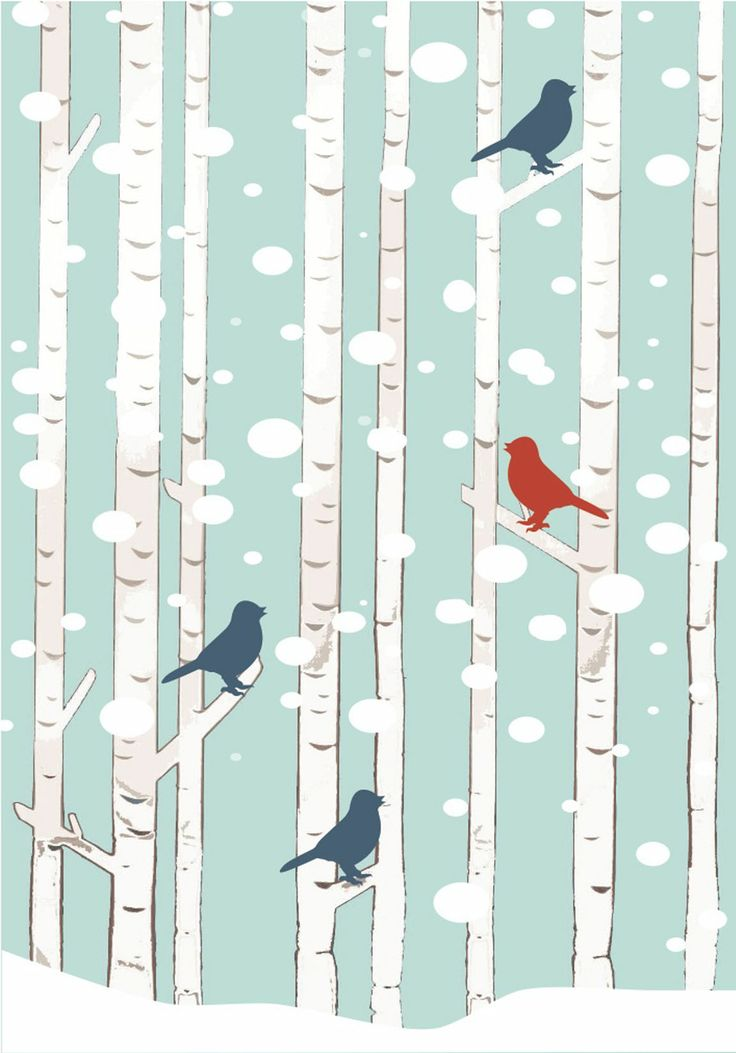 Share it & Receive it with our compliments! Winter Wonderland Birds art print :: http://www.chickduckgoose.com/products/winter-wonderland || *Until February 8, 2014