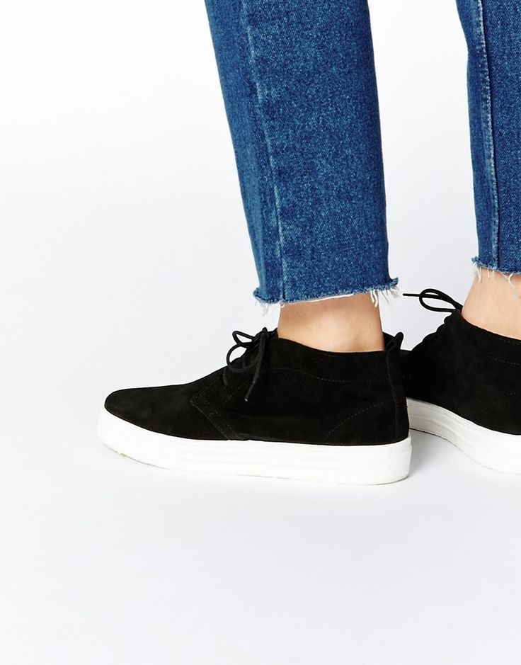 Image 1 of ASOS DISTRICT Suede Sneaker Boots