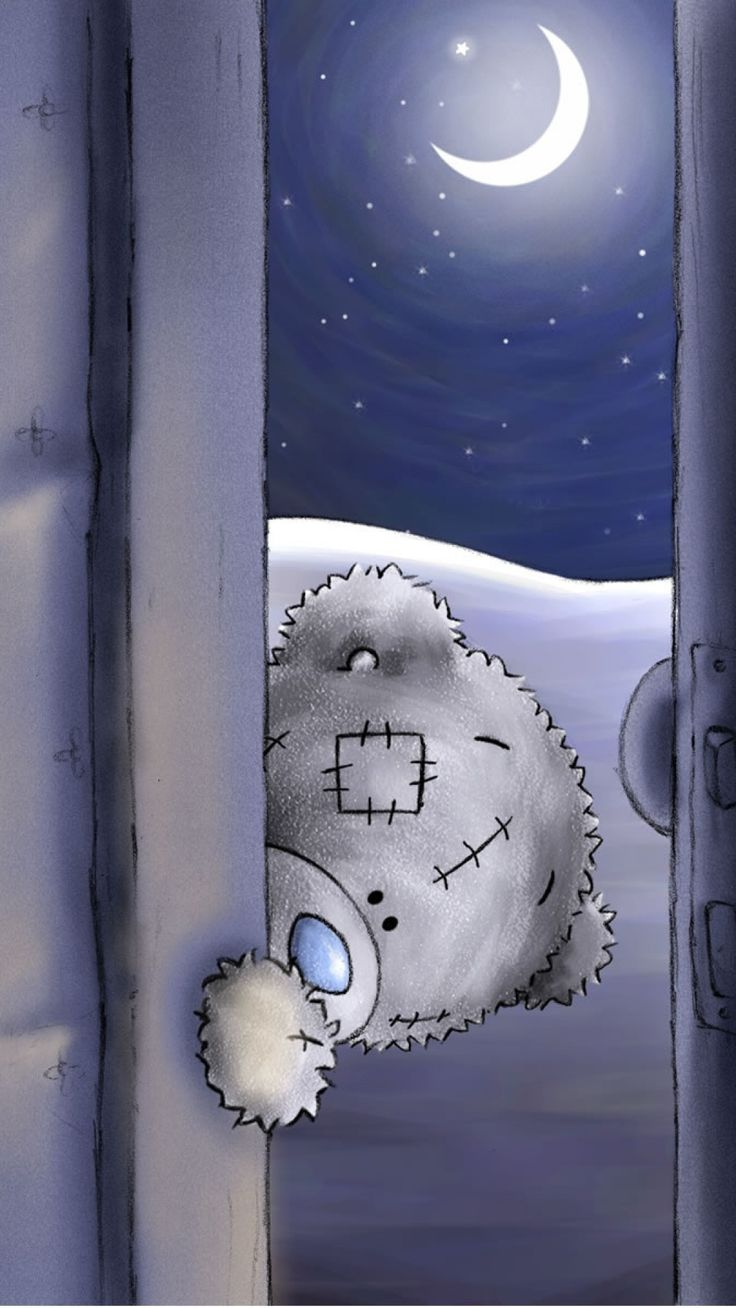 Goodnight Teddy Bear. Happy Teddy Day! Tap to see more Teddy iPhone & Android wallpapers, backgrounds, fondos! - @mobile9