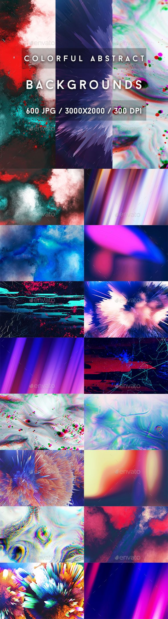 600 Colorful Abstract Backgrounds — JPG Image #violet #shapes • Download ➝ https://graphicriver.net/item/600-colorful-abstract-backgrounds/19677980?ref=pxcr
