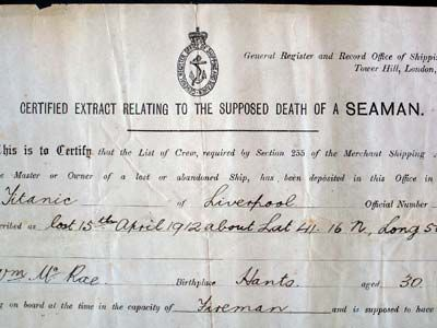 The John William Gill Collection-Death Certificate  Mr. John William Gill was born in 1888, the son of Richard Gill. John Gill lived at 3 Griffin Road, Clevedon, England. He was employed as the chauffeur for the Reverand C. R. Braithwaite, vicar of Hewish St. Ann, near the town of Puxton.