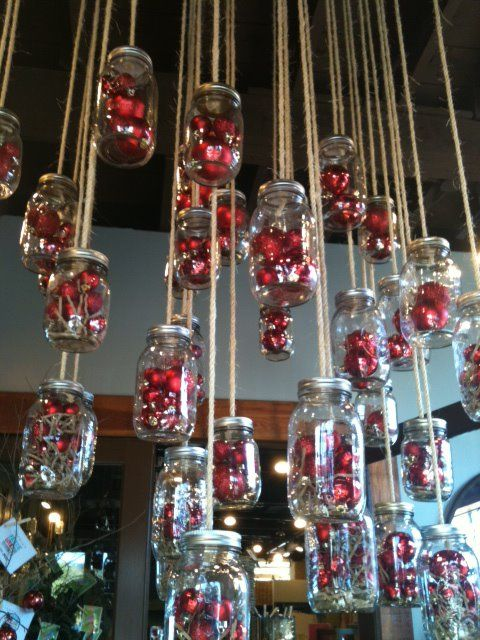 mason jars + ornaments