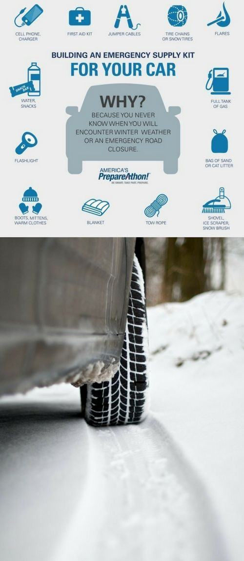 For me, as soon as Halloween is over I get my car ready for the Winter weather and that includes a Winter Car Safety Kit. Are you ready for snow and ice? Is your car ready?
