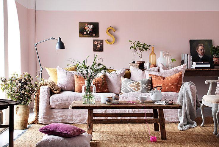 Clive Tompsett Delvis målad vägg, underbar färg