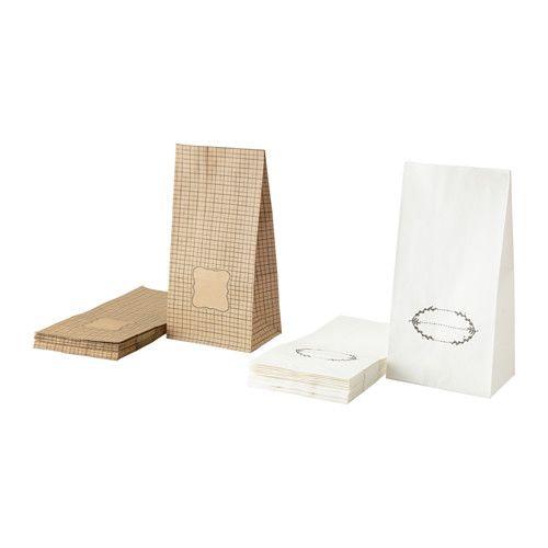IKEA - HEMSMAK, Sacchetto di carta, Ideale come confezione regalo per dolci fatti in casa, caramelle o altri alimenti secchi.