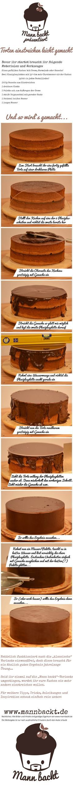 [Anleitung] Torten einstreichen leicht gemacht… so verhelft ihr eurer Torte zu einer perfekten Oberfläche › Man(n) backt