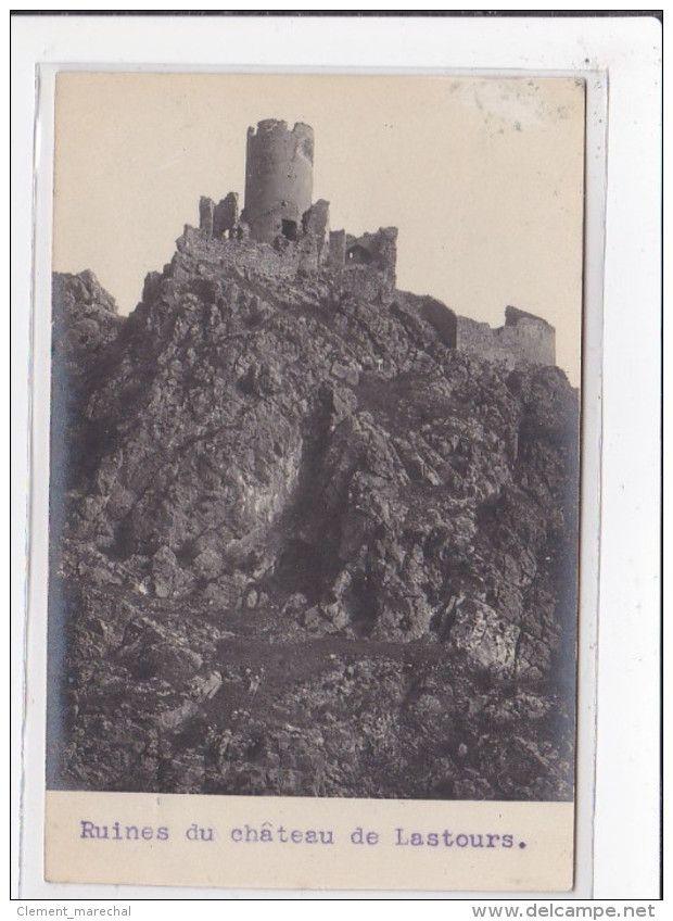 France - LASTOURS : ruines du chateau de lastours - tres bon etat