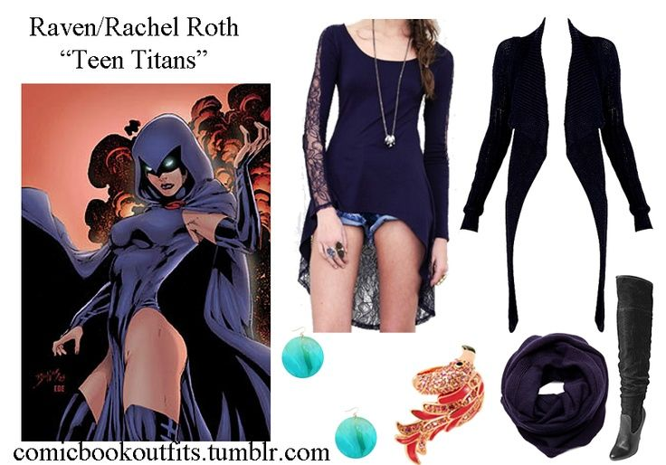 Teen titans raven outfit style