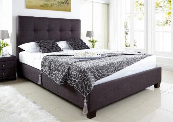 Kaydian Walkworth Ottoman Storage Bed - Slate Fabric