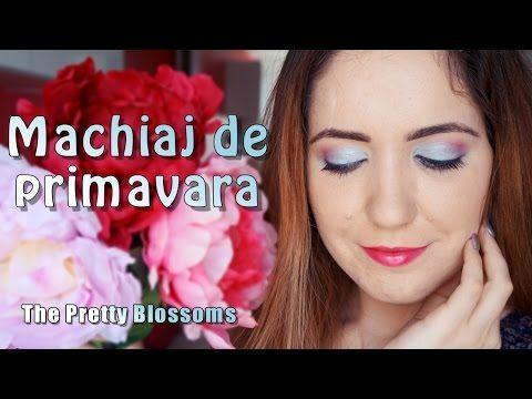 Tutorial video: Machiaj colorat de primăvară | The Pretty Blossoms