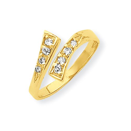 IceCarats 10K Yellow Gold CZ Toe Ring   Jewelry   Accessories   Summer Style   Fashion   Gift   #IceCarats   See More - www.icecarats.com