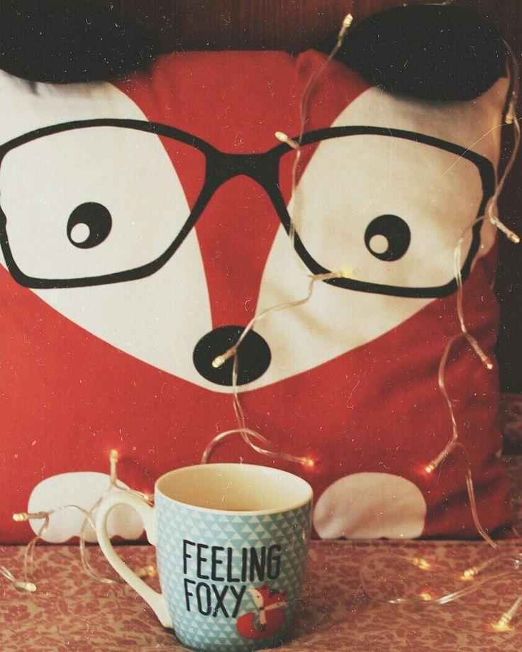 Cozy, autumn, fox, mug, fox mug, pillow, fox pillow,