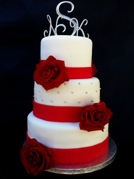 Modern Red Round Wedding Cakes Photos & Pictures - WeddingWire.com