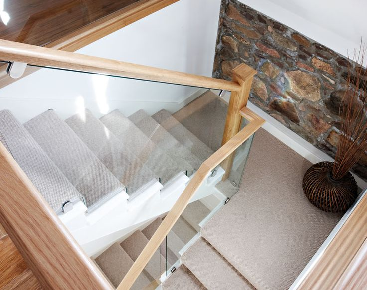 Neville Johnson - Cut String Glass and Oak. I like this style of staircase. Mixture of wooden and modern.