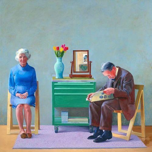 """My parents"" by David Hockney"