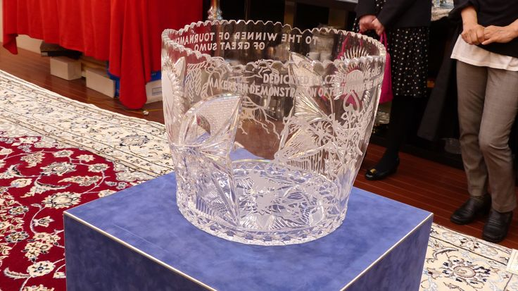 Czechoslovakia Sumo Friendship Cup/チェコスロバキアの最高級ボヘミアグラス チェコスロバキア友好杯