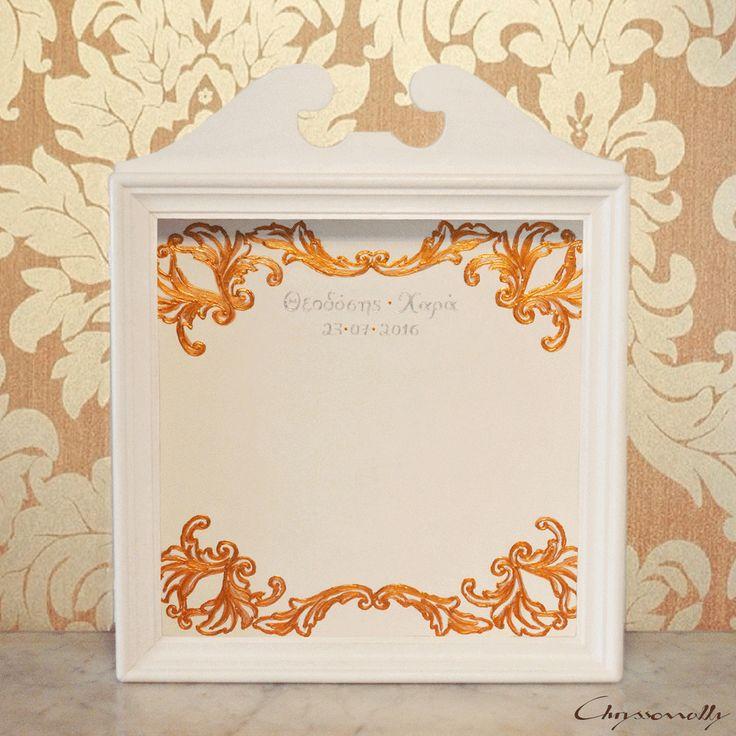 WEDDING | Chryssomally || Art & Fashion Designer - Hand painted wooden wedding crowns case
