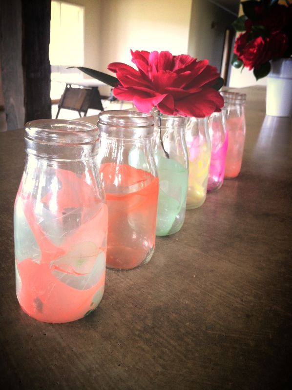 Nail Polish Marbled Vases- My Crafternoons- DIY Project Tutorials and Craft Workshops Victoria