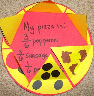 Fraction pizzas!! Fun way to help kids learn about fractions.