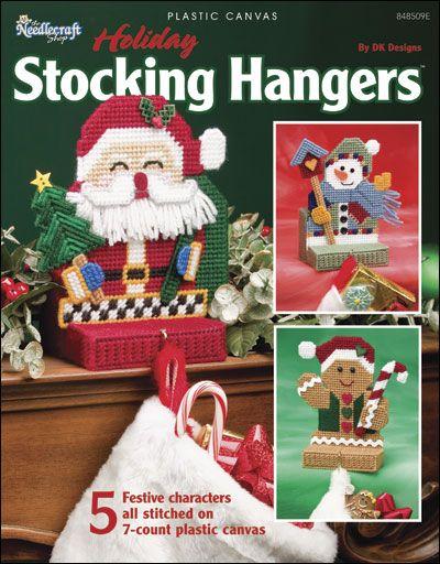Plastic Canvas - Holiday & Seasonal Patterns - Christmas Patterns - Holiday Stocking Hangers