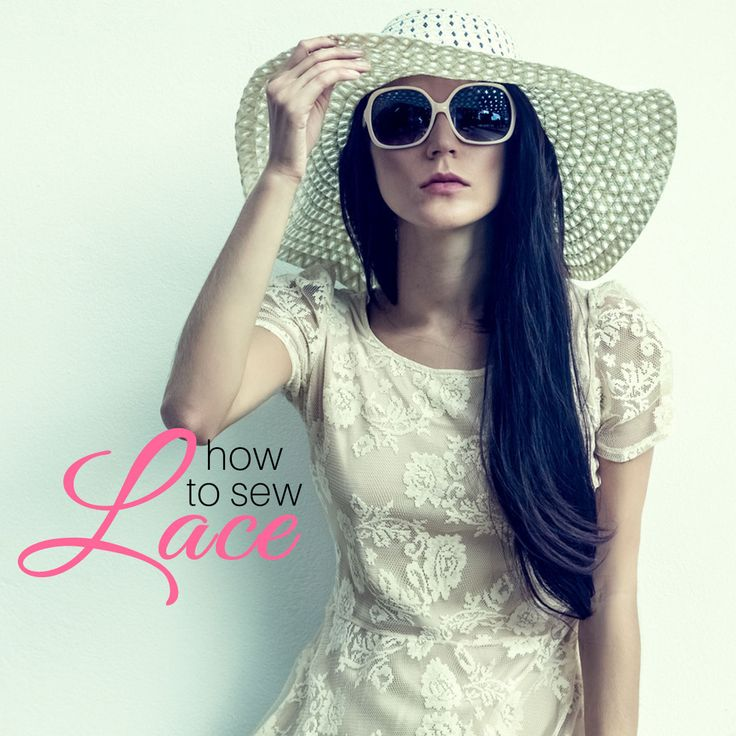 How to sew lace fabric to make pretty clothing
