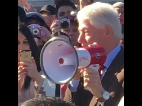 VIDEO: Bill Clinton campaigns outside polling location — in violation of state law? | The American Mirror