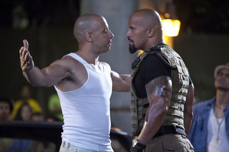 """Vin:  """" Weren't you in that shitty movie Tooth Fairy?""""      The Rock:  """"I guess you've forgotten The Pacifier ?""""Real Life, The Rocks, Dwayne Johnson, Big Boys, Fast Five, Vin Diesel, Furious, Movie, Tooth Fairies"""
