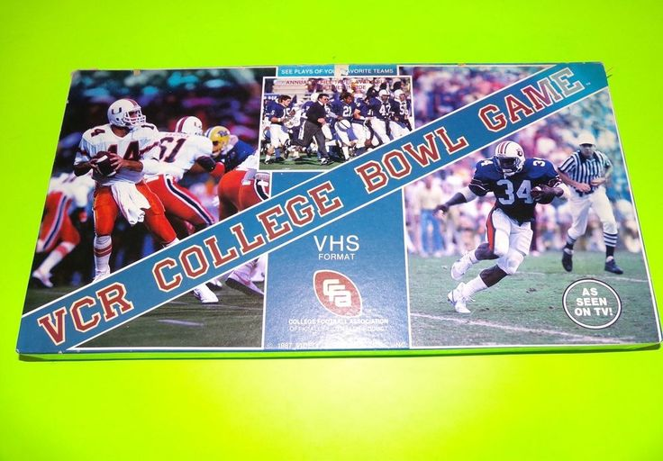 Vintage 1987 VCR Collectible College Bowl Game New Condition Great Gift   eBay