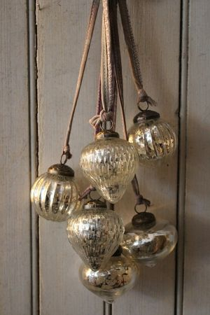 old ornaments glass